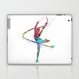 Rhythmic Gymnastics Print Sports Print Watercolor Print Laptop & iPad Skin