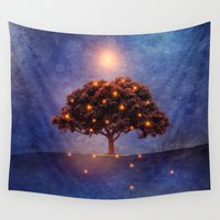 lights Wall Tapestries featuring Energy & lights by Viviana Gonzalez
