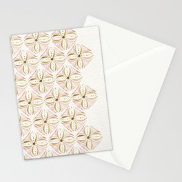Rose Gold Watercolor Tile Stationery Cards