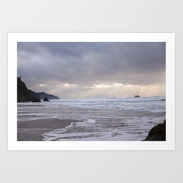 Foggy Beach (colour) Art Print