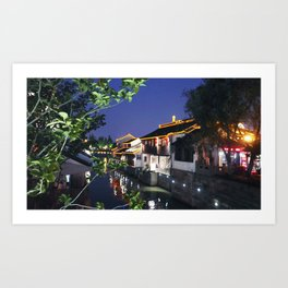 China Suzhou Night Scene Art Print