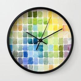 Color Mosaic Wall Clock