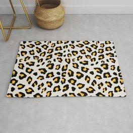 Leopard Print - Mustard Yellow Rug