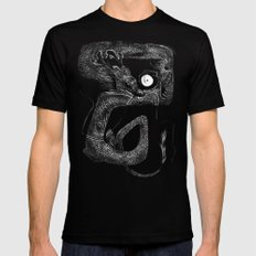 Dragon B Black LARGE Mens Fitted Tee