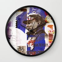 soviet Wall Clocks featuring Soviet times by LuzGraphicStudio