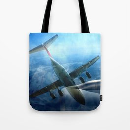 Aircraft collage Tote Bag