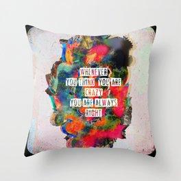 C R ▲ Z Y Throw Pillow