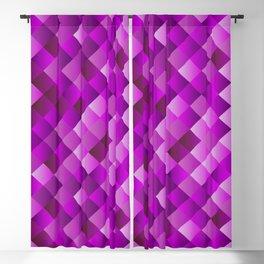 Fuchsia square rhombus geometric pattern Blackout Curtain