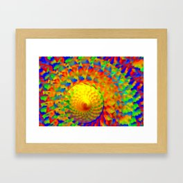 Abstract solar winds ... Framed Art Print