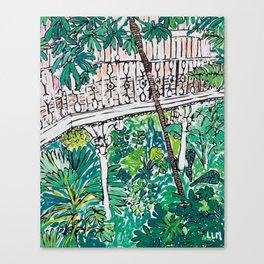 Kew Gardens Jungle Botanical Painting Greenhouse Canvas Print