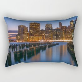 USA Photography - Manhattan By The Atlantic Ocean Rectangular Pillow