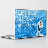 olaf Laptop & iPad Skins featuring OLAF by DisPrints