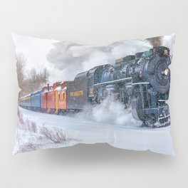 North Pole Express Train (Steam engine Pere Marquette 1225) Pillow Sham