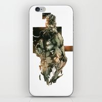 metal gear iPhone & iPod Skins featuring Metal Gear Solid 5 by Hisham Al Riyami