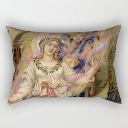 "Evelyn De Morgan ""Our Lady of Peace"" Rectangular Pillow"