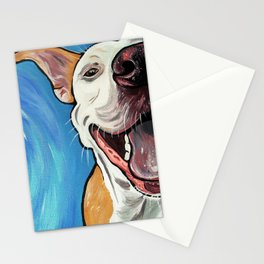 Smiling Pit Bull  Stationery Cards