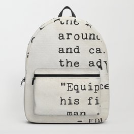 Edwin Hubble quote Backpack