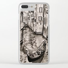 Venice Canal Clear iPhone Case