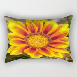 Southern African ❁ Yellow Gazania Flower  Rectangular Pillow