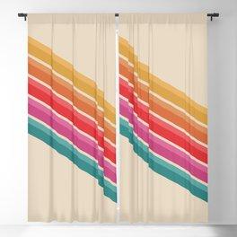 Retro Pattern - Downhill #743 Blackout Curtain