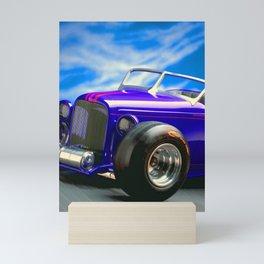 Purple-Blue Classic Hot Rod Mini Art Print