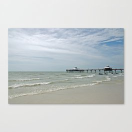 Fort Myers Pier Canvas Print