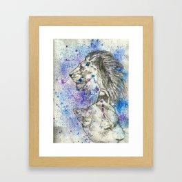 Lion & Lioness  Framed Art Print