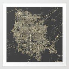 Las Vegas Map #1 Art Print