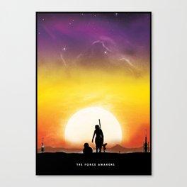 Force Awakens - Rey  Canvas Print