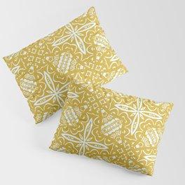 Gold Geometric Deco Pattern Pillow Sham