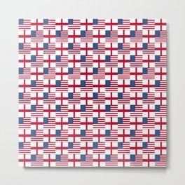 Mix of flag: Usa and england Metal Print