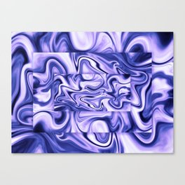 Blue Sky Abstract Painting Canvas Print