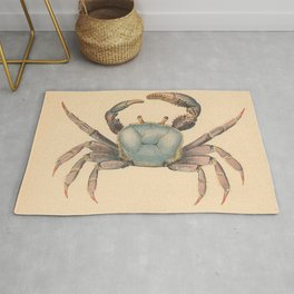 Vintage Mangrove Crab Illustration (1902) Rug