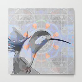 Swift Wings Dreaming Hummingbird Print Metal Print