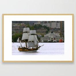 Lady Washington On Lake Union Framed Art Print