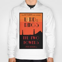 lotr Hoodies featuring LOTR The Two Towers Minimalist Poster by Sean Breeding Arthouse