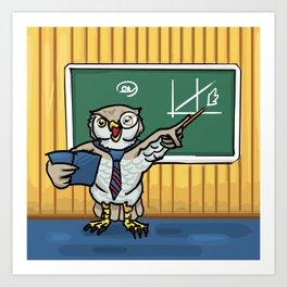 wisdom of owl  Art Print