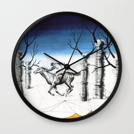 The Lost Jockey - Rene Magritte Wall Clock