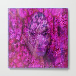 """""""Face In Lace"""" by surrealpete Metal Print"""