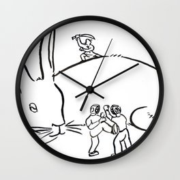 Kuo Shu Rabbit Wall Clock