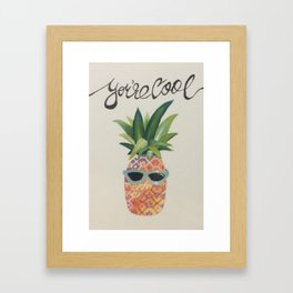 Because you are Framed Art Print