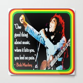 """WITH MUSIC: FEEL NO PAIN"" Metal Print"