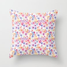 Watercolour Floral Throw Pillow
