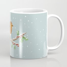Robin on Branch Coffee Mug