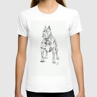 pit bull T-shirts featuring Pit Bull  by RJsART