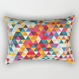 Vintage Summer Color Palette - Hipster Geometric Triangle Pattern Rectangular Pillow