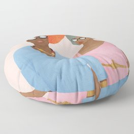 Colorfully Dressed Floor Pillow