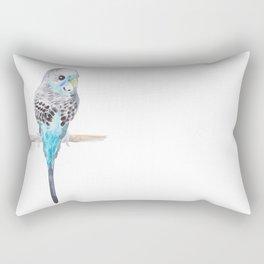 Blue Budgerigar Rectangular Pillow