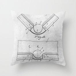 Pool table pocket Throw Pillow