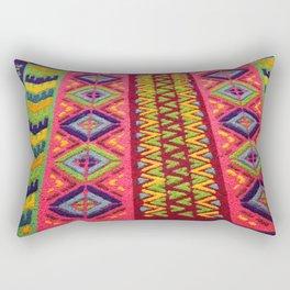 Colorful Guatemalan Alfombra Rectangular Pillow